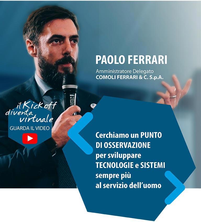Paolo Ferrari - kick off 13 marzo 2020